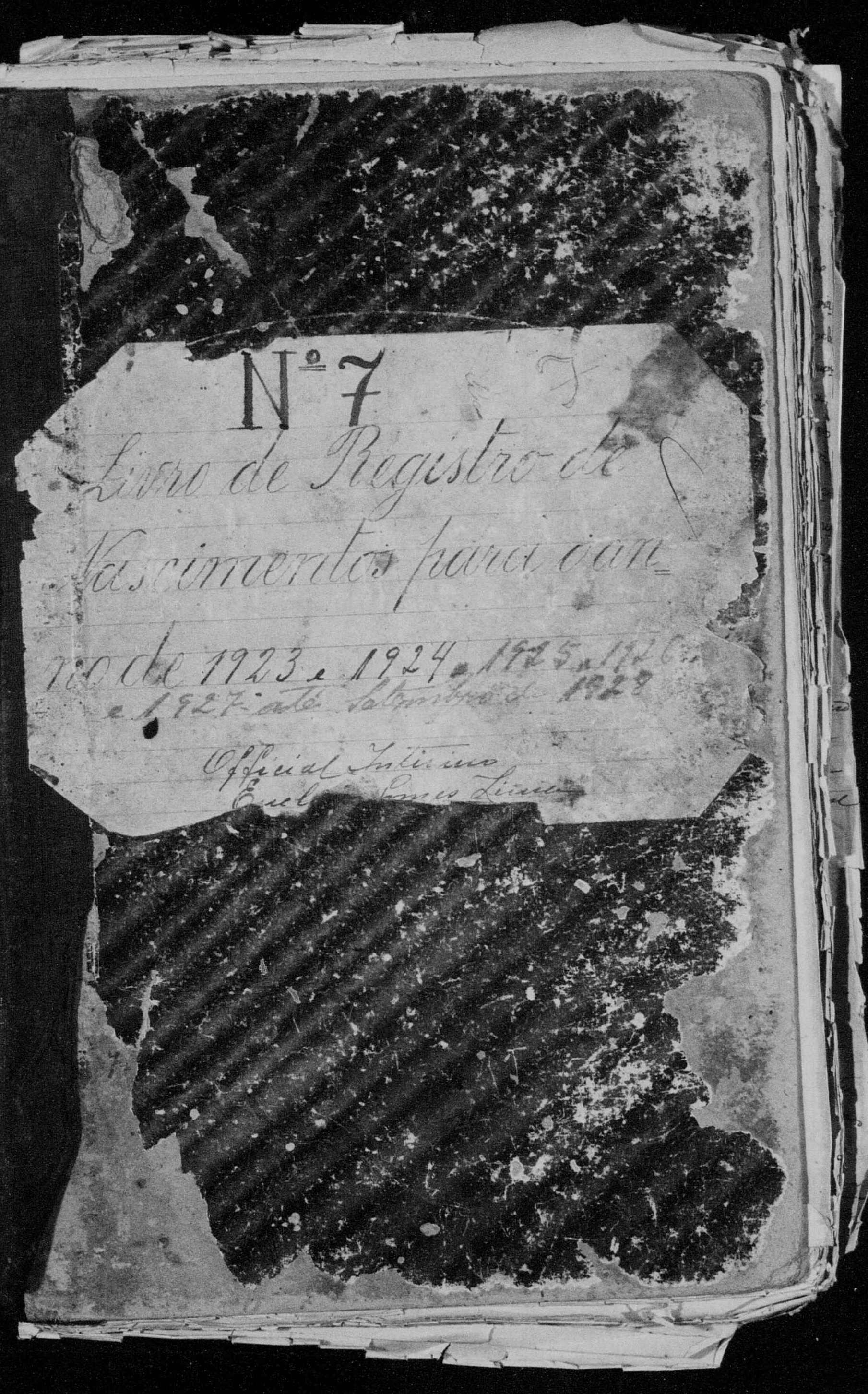 Capa de Livro de Registro de Nascimento