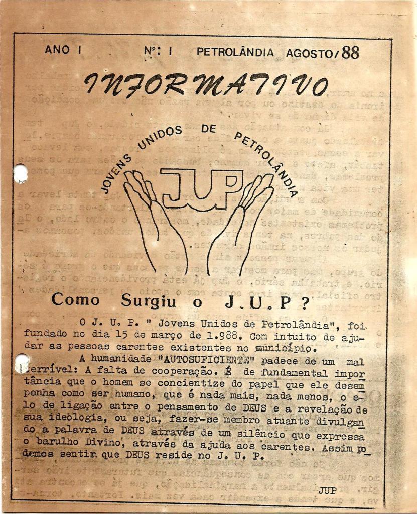 Capa do Jornal JUP Ano I Número 01